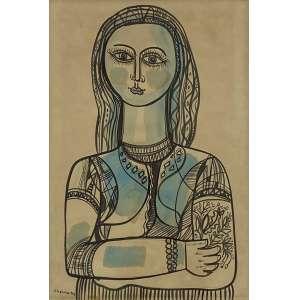CHANINA - Figura de mulher - guache - 45 x 30 cm - a.c.i.e. 1963