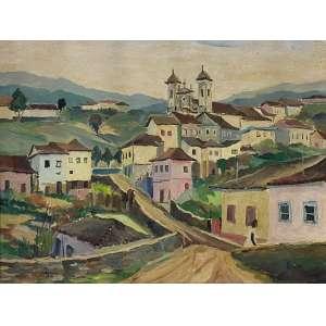 ZORLINI, Giancarlo - Ouro Preto - óleo sobre tela - 50 x 65 cm - a.c.i.e. 1968