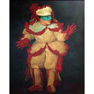 GRUBER, Mario Da serie Fantasiado óleo sobre tela colado em madeira - 68 x 56 cm - a.c.i.d. 1991