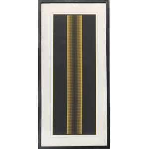 ALMIR MAVIGNIER - Composição cinética - serigrafia 2/100 - 86 x 35 cm - a.c.i.d. 1969