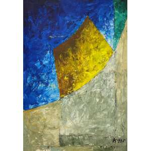HEINZ KÜHN - Sem titulo - óleo sobre tela - 100 x 75 cm - a.c.i.d. 1985