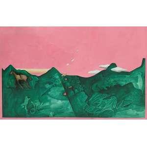 IVALD GRANATO - Série Friburgo - guache sobre papel - 31 x 49 cm - ass. no verso 1972 - com carimbo do atelie do artista no verso, e carimbo do Museu de Arte Contemporânea da USP, ex coleção Monica Filgueiras.