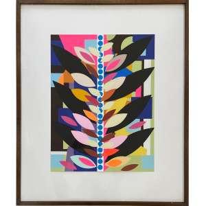 BEATRIZ MILHAZES - O Passeio em rosa e marrom - serigrafia 43/50 - 54 x 41 cm - assinada e datada no verso, acompanha certificado de autenticidade assinado pela artista.