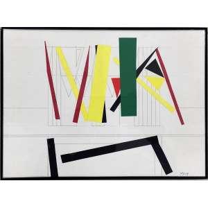 FERREIRA GULLAR - Sem titulo - técnica mista com colagem - 20 x 28 cm - a.c.i.d. 2009