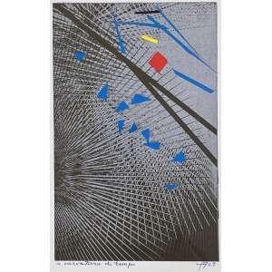 FERREIRA GULLAR - A curvatura do tempo - técnica mista com colagem - 20 x 12 cm - a.c.i.d. 2009