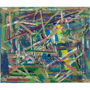 NIOBE XANDÓ - Sem titulo - técnica mista e colagem - 20 x 25 cm - a.c.i.e. 1984 - obra registrada na catalogação da artista.