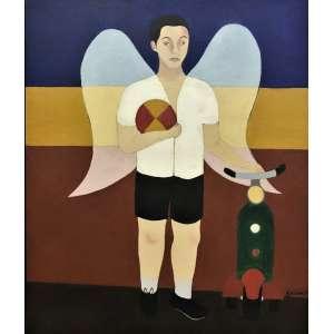 DJNIRA da Motta e Silva Anjo - óleo sobre tela -63 x 53 cm - a.c.i.d. 1959