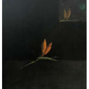 INOS CORRADIN - Flores - óleo sobre placa - 70 x 67 cm - a.c.i.e.