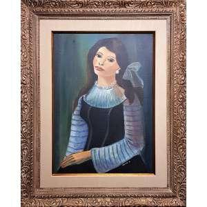 NOÊMIA MOURÃO - Mulher sentada - óleo sobre madeira - 70 x 52 - a.c.i.d. - Obs: obra adquirida diretamente da artista.