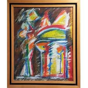 GRANATO, Ivald - Sem título - acrílica sobre tela - 50 x 40 cm - ass. no verso 1998