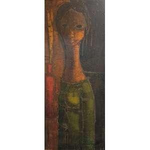 INOS CORRADIN - Mulher - óleo sobre tela - 85 x 35 cm - a.c.i.d. déc. 60