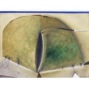 DINA OLIVEIRA - Abstrato - óleo sobre tela - 60 x 80 cm - a.c.i.d. 1987