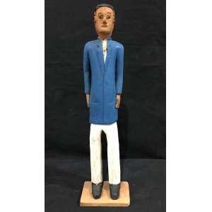 VEIO - Doutor - escultura em madeira pintada - 37 cm de altura - assinada.