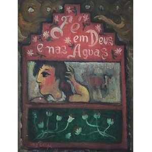 LENIO BRAGA - Fé em Deus e nas Águas - óleo sobre tela - 35 x 27 cm - a.c.i.e. 1964.