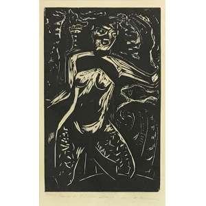 GOELDI. Oswaldo - Sem titulo - xilogravura 7/100 - 25 x 15 cm - obs: ilustração para o livro Iemanjá, Dona dos Mares e das Savanas de Jorge Amado.