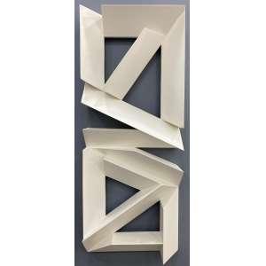 EMANOEL ARAUJO - Sem titulo - escultura em madeira pintada - 125 x 50 cm - assinada no verso