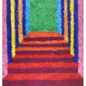 TOZZI - Escada - acrílica sobre tela - 30 x 30 cm - a.c.i.e. 2001