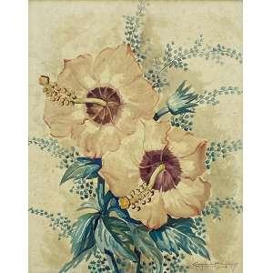 GEORGINA DE ALBUQUERQUE - Flores - guache sobre papel - 58 x 46 cm - a.c.i.d.