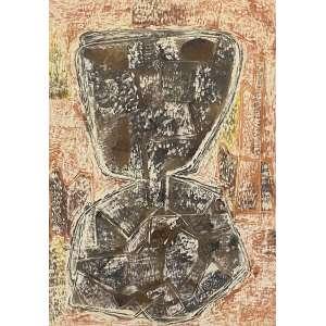 ROSÁRIO MORENO - Abstrato - técnica mista - 60 x 40 cm - a.c.i.e. 1958