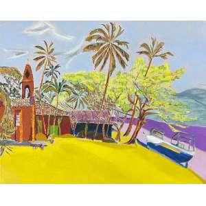 FERNANDO EMANOEL - Praia da Armação - óleo sobre tela - 80 x 100 cm - assinado no verso 2004