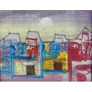 RAUL PAVLOTZKY - Sem titulo - óleo sobre tela colado - 24 x 30 cm - a.c.s.d.