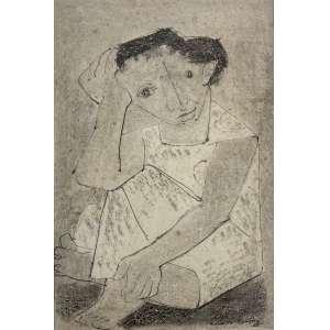 ROSÁRIO MORENO - Menina - técnica mista sobre papel - 41 x 28 cm - a.c.i.d. 1955