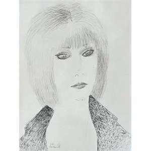 DI CAVALCANTI, Emiliano - Mulher desenho a nanquim - 40 x 31 cm - a.c.i.e. 1967 - Obs no verso etiqueta de autenticação, assinada por Cesar Luiz Pires de Mello, Galeria Cosme Velho.