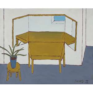 FANG, Chen Kong - Composição - óleo sobre tela - 45 x 55 cm - a.c.i.d.