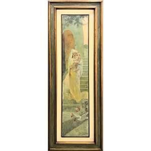 OSCAR PEREIRA DA SILVA - Maternidade - óleo sobre tela - 160 x 35 cm - a.c.i.d. 1924