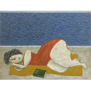 GUSTAVO ROSA - Banhista - óleo sobre tela - 80 x 100 cm - a.c.i.d. 1988