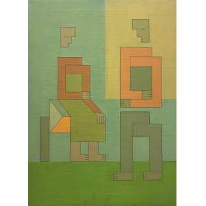DIONISIO DEL SANTO - Casal - óleo sobre tela - 73 x 53 cm - a.c.i.d. 1979