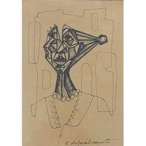 DI CAVALCANTI, Emiliano - Figura - desenho a nanquim - 19 x 12 cm - a.c.i.d.