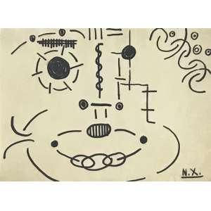 NIOBE XANDÓ - Mascara - desenho a nanquim - 22 x 29 cm - a.c.i.d.