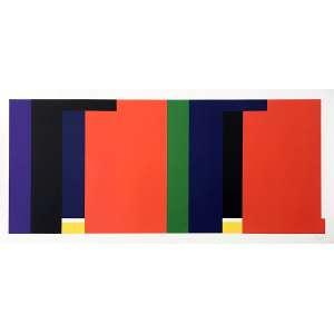 SUED, Eduardo - Geométrico - serigrafia 11/100 - 70 x 150 cm - a.c.i.d. - Obs: sem moldura.