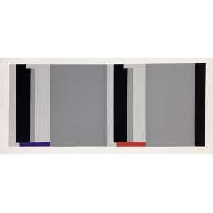 SUED, Eduardo - Geométrico cinza - serigrafia 13/100 - 70 x 153 - a.c.i.d. - Obs: sem moldura