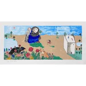 CICERO DIAS - Salomé - serigrafia 171/200 - 45 x 90 cm - a.c.i.e. - Obs: sem moldura