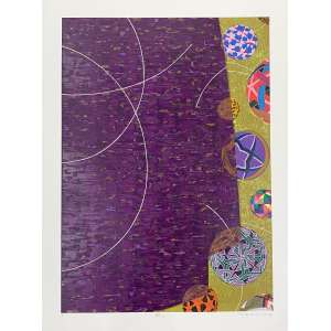 WAKABAYASHI, Kazo - Sem titulo - serigrafia P/I - 80 x 60 cm - a.c.i.d. 2016 - Obs: sem moldura