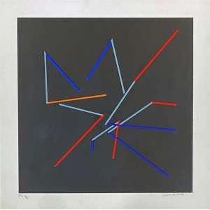 JUDITH LAUAND - Sem titulo - serigrafia P/I 3/5 - 50 x 50 cm - a.c.i.d.