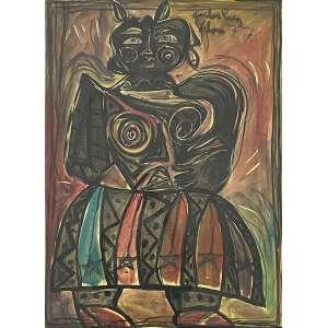 CARLOS PAEZ VILARÓ - Figura - óleo sobre papel - 80 x 58 cm - a.c.s.d. 1977