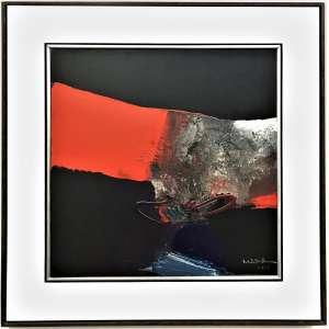 MABE, Manabu - Abstrato - óleo sobre tela - 51 x 51 cm - a.c.i.d. 1979 - obra registrada no instituto Mabe.