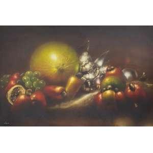 LOURENÇO - Frutas - óleo sobre tela colado s/ placa - 90 x 135 cm - a.c.i.e. 1980