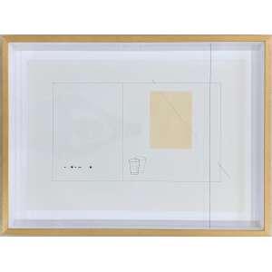WALTÉRCIO CALDAS - Sem Título - técnica mista sobre papel - 65 x 87 x 9 cm - ass. e datado 2013 no verso, com etiqueta da Galeria Raquel Arnaud<br />