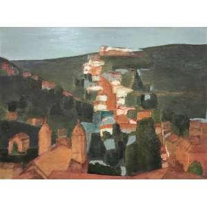 IVAN MARQUETE - Ladeira de Santa Efigênia - óleo sobre tela - 60 x 81 cm - a.c.i.d. 1969 - (Ouro Preto)