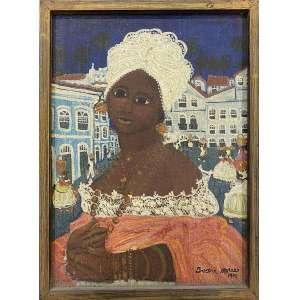 IVAN MORAES - Baiana - óleo sobre tela - 22 x 16 cm - a.c.i.d. 1970