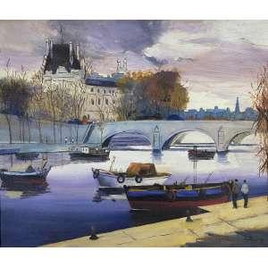 SILVIO PINTO - Paris - óleo sobre tela - 46 x 55 cm - a.c.i.d.