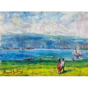 MANOEL SANTIAGO - Paisagem - óleo sobre tela - 46 x 61 cm - a.c.i.e. no verso 1970 - obra reproduzida no livro do artista.