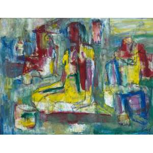BAÑOS, José Maria - No Parque - óleo sobre tela - 50 x 66 cm - a.c.i.d.