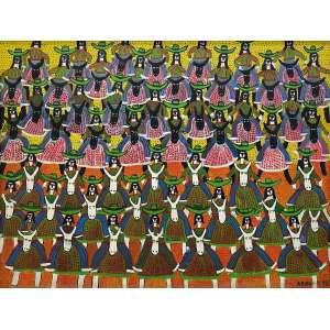 POTEIRO, Antônio - Cavalgada - óleo sobre aglomerado - 90 x 120 cm - a.c.i.d. 1998