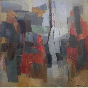 YOLANDA MOHALYI - Abstrato - óleo sobre tela - 120 x 120 cm - a.c.i.d. - Obs: com resquício de etiqueta da Dan Galeria