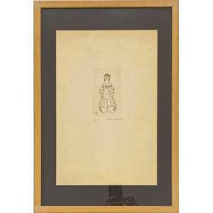 ALDEMIR MARTINS - Índia - gravura em metal 17/20 - 45 x 30 cm - a.c.i.d. 1951